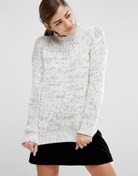 Вязаный oversize-джемпер с высоким воротом Fashion Union - Серый