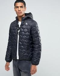 Дутая куртка с капюшоном Kappa - Черный