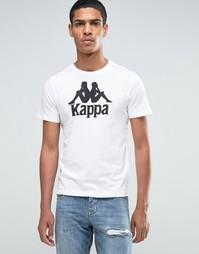 Футболка с крупным логотипом Kappa - Белый