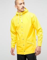 Короткая водонепроницаемая куртка Rains - Желтый