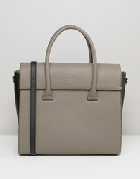 Структурированная сумка‑тоут с клапаном Pauls Boutique Adele - Бежевый