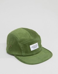 5-панельная вельветовая кепка Wesc - Зеленый
