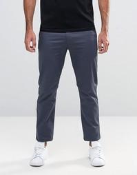 Серые стретчевые брюки узкого кроя Farah - Серый
