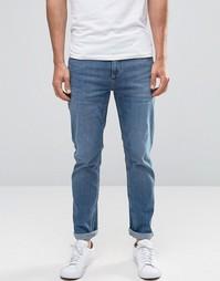 Стретчевые джинсы слим Selected Homme - Синий