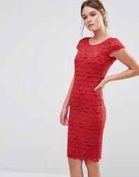 Кружевное моделирующее платье Body Frock Jasmine - Красный