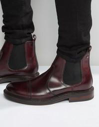 Кожаные ботинки челси Base London Edison - Красный