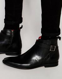 Кожаные ботинки Base London Albert Jodphur - Черный