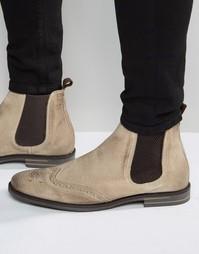 Замшевые ботинки челси Base London Boxley - Рыжий