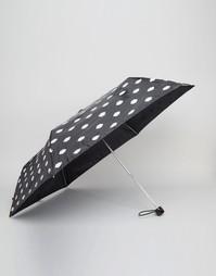 Зонт с принтом губ Lulu Guinness - Черный