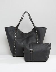 Сумка-шоппер с заклепками Yoki Fashion - Черный