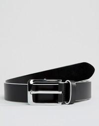 Узкий кожаный ремень Smith And Canova - Черный