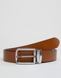 Узкий кожаный ремень Smith And Canova - Рыжий