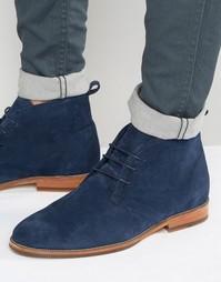 Замшевые ботинки на шнуровке Bobbies Le Monsieur - Темно-синий