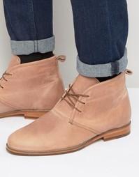 Кожаные ботинки на шнуровке Bobbies Le Monsieur - Розовый