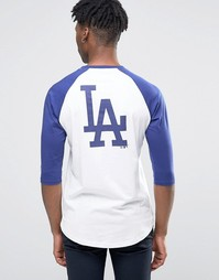Футболка с рукавами реглан 3/4 New Era LA Dodgers Athletics - Белый