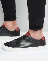 Кожаные кроссовки Ted Baker Kiing - Черный