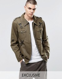 Куртка в стиле милитари Underated - Зеленый