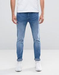 Светлые стретчевые джинсы скинни Only & Sons - Синий