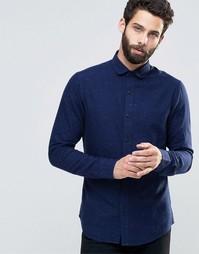 Рубашка в крапинку Only & Sons - Темно-синий