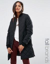 Стеганая куртка‑пилот Noisy May Tall - Черный