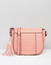 Сумка с брелком-кисточкой Dune - Розовый