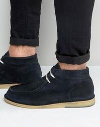 Замшевые ботинки Selected Homme Ronni - Темно-синий