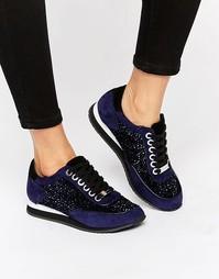 Замшевые кроссовки с отделкой Carvela Lemmy - Синий