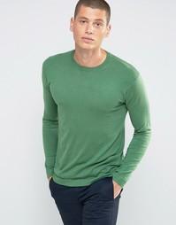 Джемпер с круглым вырезом United Colors of Benetton - Зеленый