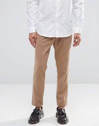 Трикотажные зауженные брюки в строгом стиле ASOS - Рыжий