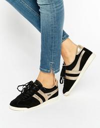 Классические черно-золотистые кроссовки Gola - Черный