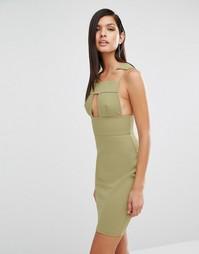 Платье с вырезами AQAQ Sibby - Зеленый
