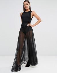 Прозрачное платье макси AQAQ Kiva - Черный