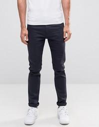 Сине-черные зауженные джинсы Weekday Friday - Черный