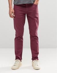 Бордовые джинсы скинни ASOS - Красный