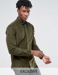 Вельветовая рубашка Heart and Dagger - Зеленый