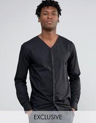 Рубашка со скрытой планкой Noak - Черный