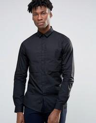 Рубашка навыпуск с большим карманом Noak - Черный