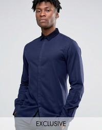Облегающая рубашка Noak - Темно-синий