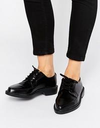 Кожаные туфли на плоской подошве со шнуровкой T.U.K. Jam - Черный