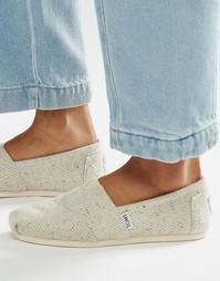 Туфли на плоской подошве и с меховой подкладкой TOMS - Серый