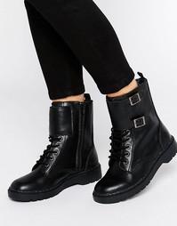 Кожаные ботильоны на шнуровке T.U.K. Ealing - Черный
