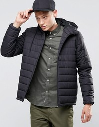 Черная стеганая куртка с капюшоном Element Hayden - Черный