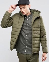 Зеленая стеганая куртка с капюшоном Element Hayden - Зеленый
