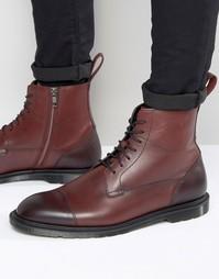 Ботинки на шнуровке с молнией Dr Martens Winchester - Красный
