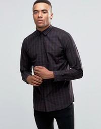 Рубашка зауженного кроя в клетку с длинными рукавами Jack & Jones Premium - Красный