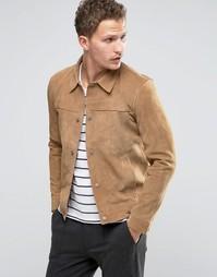 Замшевая куртка в стиле вестерн Selected Homme - Бежевый