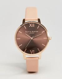 Часы с большим коричневым циферблатом Olivia Burton - Коричневый