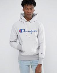 Худи с логотипом Champion - Серый