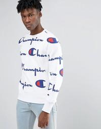 Свитшот с логотипом Champion - Белый