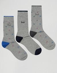 3 пары серых носков Pringle Kilbride - Серый